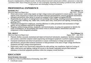 Sample Of Resume for Electrical Engineer Template for Fuse Box Template Get Free Image About