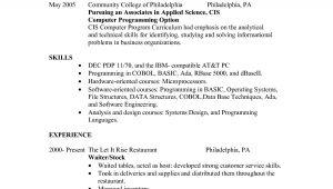 Sample Of Resume for Waitress Position Waitress Resume Sample Resume Badak