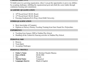 Sample Of Resume Template Resume Sample Doc Free Excel Templates