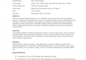 Sample Resume for 2 Years Experience In Mainframe oracle Dba Resume for 2 Year Experience Igniteresumes Com