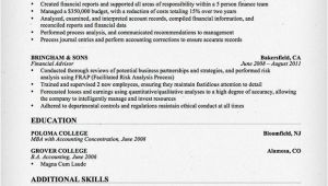 Sample Resume for Accountant with Experience Accountant Resume Sample and Tips Resume Genius