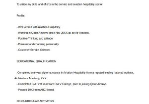 Sample Resume for Air Hostess Fresher 6 Sample Hostess Resumes Pdf Doc Sample Templates
