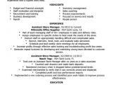 Sample Resume for assistant Manager In Retail Unforgettable assistant Retail Store Manager Resume