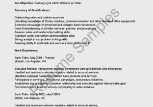 Sample Resume for Bank Teller at Entry Level Entry Level Bank Teller Resume Resume Template Cover