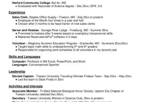 Sample Resume for Biology Major 3 Critical Mistakes to Avoid On Your First Ever Resume