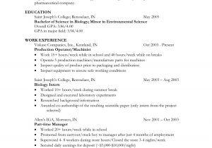 Sample Resume for Biology Major Biology Sample Resume Annecarolynbird