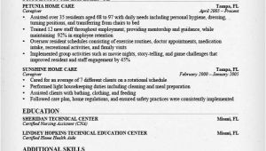 Sample Resume for Caregiver for An Elderly Caregiver Resume Sample Writing Guide Resume Genius