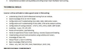 Sample Resume for Ccna Certified 5 Perfect Ccna Resume Samples that You Should Use