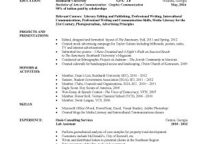Sample Resume for College Student Example Of College Resume Template Resume Builder