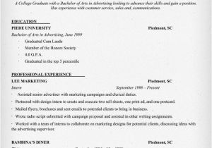 Sample Resume for College Student Example Resume Example Resume Of College Student