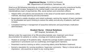 Sample Resume for Company Nurse Registered Nurse Rn Resume Sample Monster Com