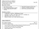 Sample Resume for Cse Students Computer Science Resume Sample Career Center Csuf