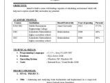 Sample Resume for Cse Students Resume format for Computer Science Engineering Students