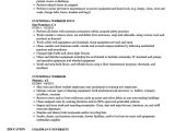 Sample Resume for Custodial Worker Custodial Worker Resume Talktomartyb