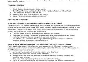 Sample Resume for Digital Marketing Manager Justin Fuller 39 S Resume Digital Marketing Manager