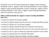 Sample Resume for Disability Support Worker top 8 Support Worker Learning Disabilities Resume Samples