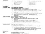 Sample Resume for Drug and Alcohol Counselor Best Drug and Alcohol Counselor Resume Example Livecareer