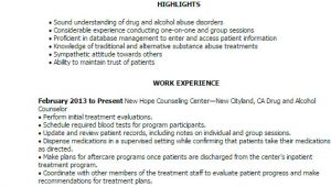 Sample Resume for Drug and Alcohol Counselor Professional Drug and Alcohol Counselor Templates to