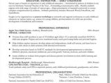 Sample Resume for Early Childhood Educator Early Childhood Educator Resume Best Resume Collection