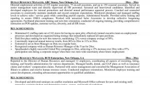 Sample Resume for Experienced Hr Executive Inspirational Sample Resume for Experienced Hr Executive