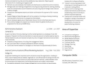 Sample Resume for Experienced Marketing Professional Marketing Cv Examples and Template