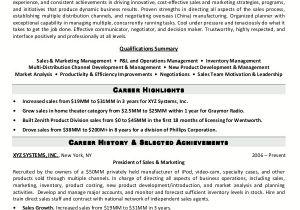 Sample Resume for Experienced Marketing Professional Resume Sample 5 Senior Sales Marketing Executive