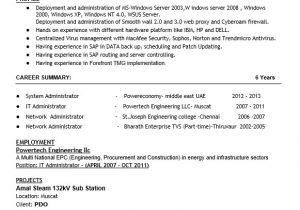 Sample Resume for Experienced Network Administrator 16 Free Sample Network Administrator Resumes Best