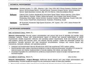 Sample Resume for Experienced Network Administrator Network Administrator Resume