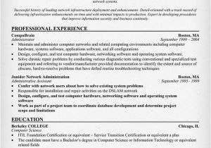 Sample Resume for Experienced Network Administrator Network Administrator Resume Sample Best Professional