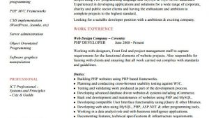 Sample Resume for Experienced PHP Developer 10 Sample PHP Developer Resume Templates to Download