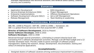 Sample Resume for Experienced software Engineer Free Download Sample Resume for An Experienced It Developer Monster Com