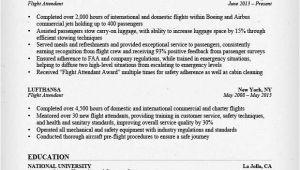Sample Resume for Flight attendant Position Flight attendant Resume Sample Writing Guide Rg