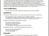 Sample Resume for Food and Beverage Supervisor Food and Beverage Manager Cv Sample Myperfectcv