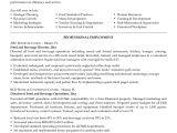 Sample Resume for Food and Beverage Supervisor Food and Beverage Manager Resume Printable Planner Template