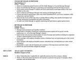Sample Resume for Food and Beverage Supervisor Food and Beverage Supervisor Resume Talktomartyb
