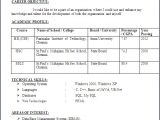 Sample Resume for Freshers Engineers Computer Science Resume format for Freshers Engineers Computer Science