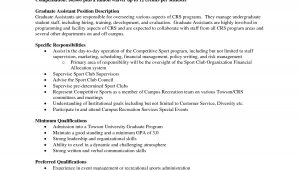 Sample Resume for Graduate assistant Position Resume Sample Graduate assistant Sidemcicek Com