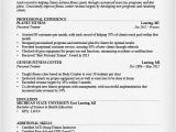 Sample Resume for Gym Instructor Personal Trainer Resume Sample and Writing Guide Rg