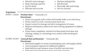 Sample Resume for Housekeeping Job In Hotel Best Housekeeper Resume Example Livecareer