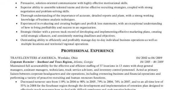 Sample Resume for Hr Recruiter Position Sample Resumes Hr Recruiter or Human Resources Recruiter