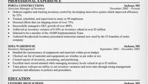 Sample Resume for Inventory Manager Sample Resume December 2015
