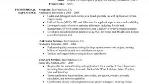 Sample Resume for Java Developer 2 Year Experience Sample Resume for Java Developer 2 Year Experience
