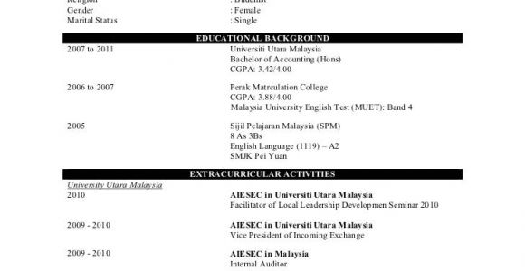 Sample Resume for Job Application for Fresh Graduate Sample Resume for Fresh Graduate without Work Experience