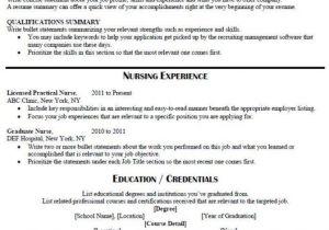Sample Resume for Lpn New Grad April 2017 Best Resume Collection
