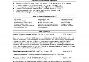 Sample Resume for Lpn New Grad New Grad Lpn Resume Resume Ideas