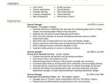Sample Resume for Managing Director Position Best General Manager Resume Example Livecareer