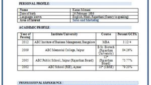 Sample Resume for Mba Marketing Experience Over 10000 Cv and Resume Samples with Free Download Mba