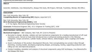 Sample Resume for Mechanical Design Engineer Pdf Mechanical Engineering Resume Sample Pdf Experienced