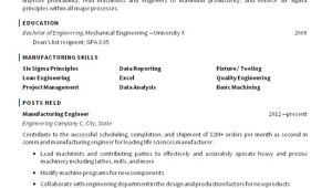Sample Resume for Mechanical Production Engineer Manufacturing Resume Examples Best Resume Collection