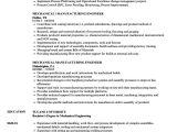 Sample Resume for Mechanical Production Engineer Mechanical Manufacturing Engineer Resume Samples Velvet Jobs